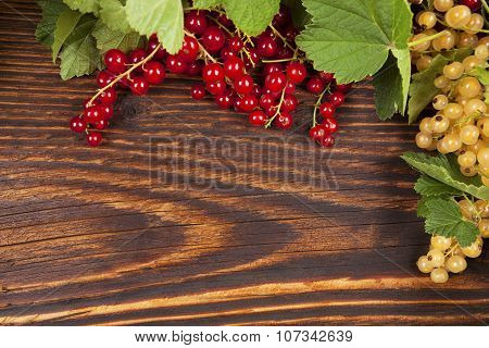 Red And White Currant Background.