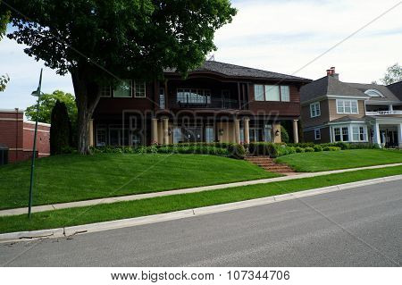 Large Brown Mansion