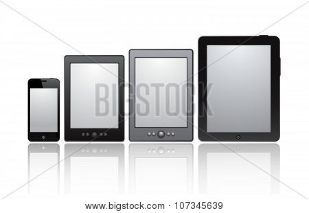 Set of realistic tablets