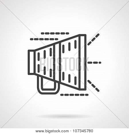 Megaphone black line vector icon