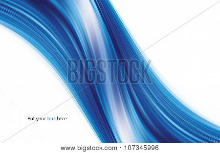 Abstract Swirl Blue Background