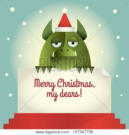 Green Monster Merry Christmas