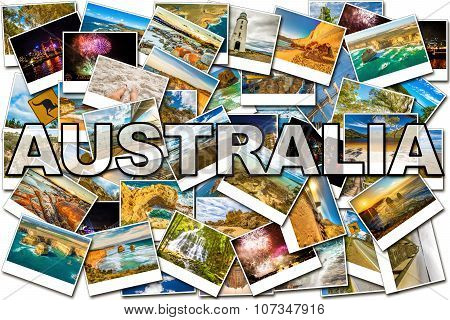 Australia pictures collage