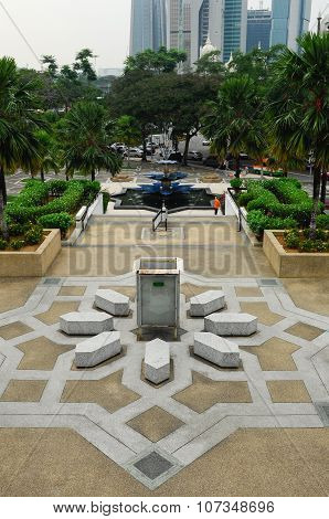 The garden at The National Mosque of Malaysia a.k.a Masjid Negara