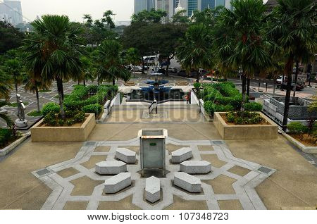 Garden at The National Mosque of Malaysia a.k.a Masjid Negara