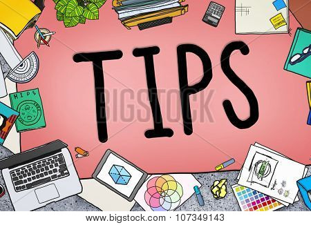 Tips Service Change Restaurent Server Waiter Waitress Concept