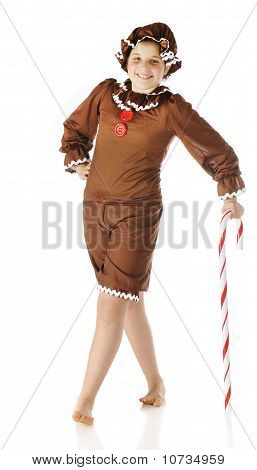 """""""ginger"""" Leaning On A Candy Cane"""