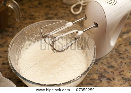 Mixing Batter For Baking