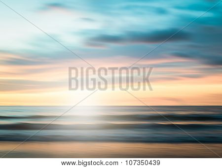 An Abstract Seascape With Blurred Panning Motion Background
