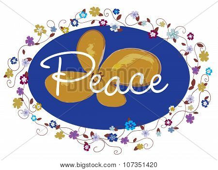Peace border frame sign