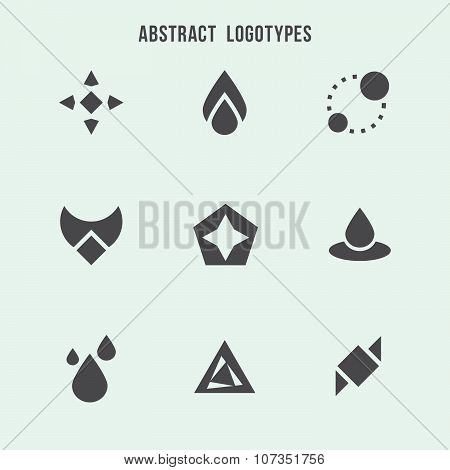 Abstract geometric vector logo set