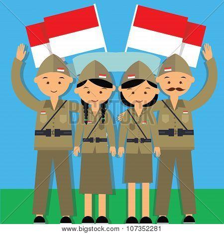 Independence Day Hari Pahlawan 17 Agustus 1945 Veteran Indonesia