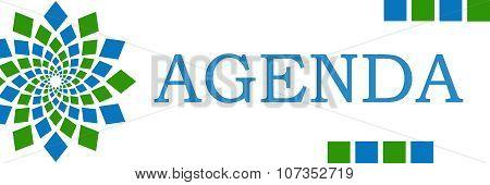 Agenda Green Blue Square Elements