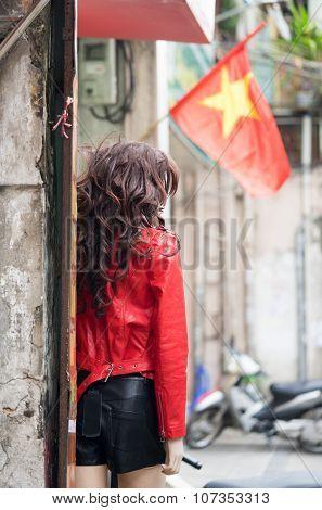 Outdoor dummy, mannequin in Hanoi, Vietnam