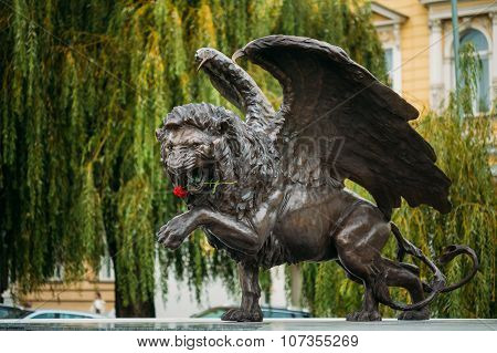 Winged Lion Memorial in Prague Czech Republic