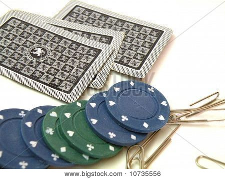 Cards And Chips To Play Poke