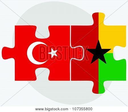 Turkey And Guyana Flags