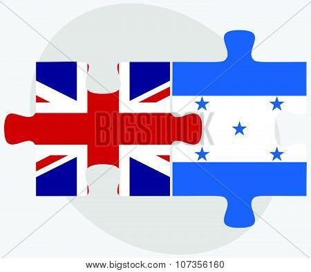 United Kingdom And Honduras Flags