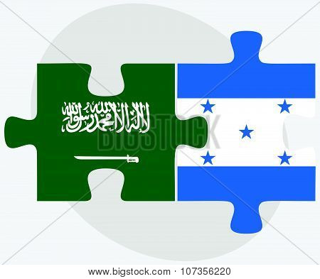Saudi Arabia And Honduras Flags
