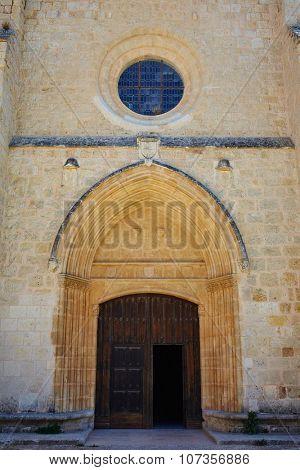 San Juan de Ortega church by the Way of Saint James in Castilla Burgos