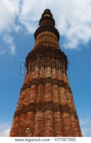Qutab Minar Tower in Delhi, India