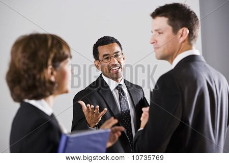 Diverse Businesspeople Conversing