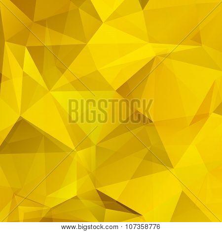 gold polygonal background