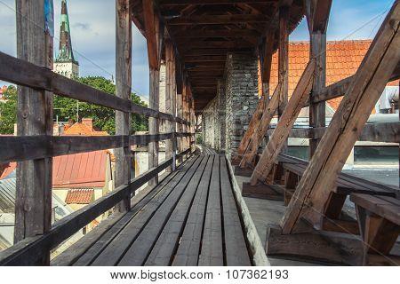 Tallinn city fortress wall in Estonia