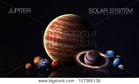Jupiter - 5K resolution Infographic presents one of the solar system planet. This image elements fur
