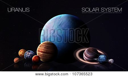 Neptune - 5K resolution Infographic presents one of the solar system planet. This image elements fur
