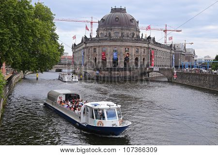 Berlin - July 25: Museum Island On Spree River In Center Of Berlin On July 25, 2015 -, Germany, Euro