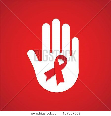 world AIDS day. hand holding HIV test tube