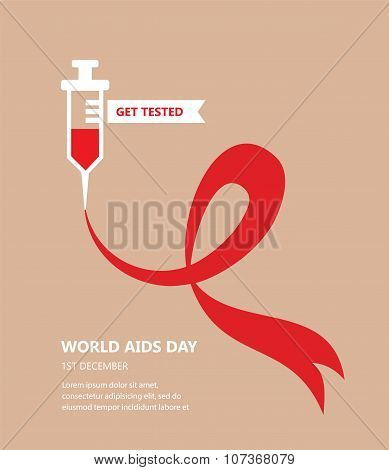 world AIDS day. get tested concept