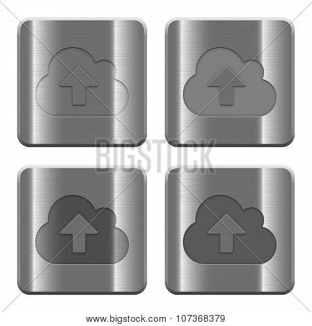 Metal Cloud Upload Buttons
