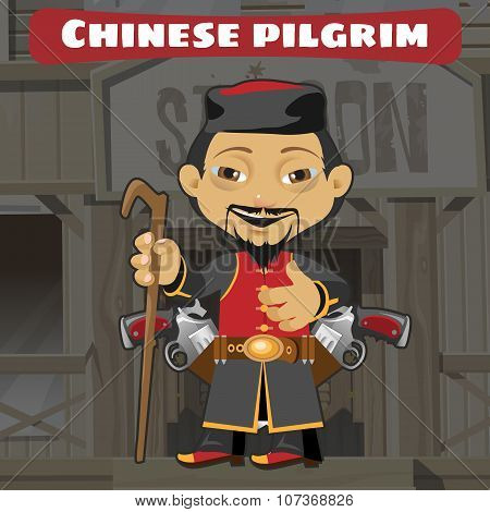 Fictional cartoon character - chinese pilgrim
