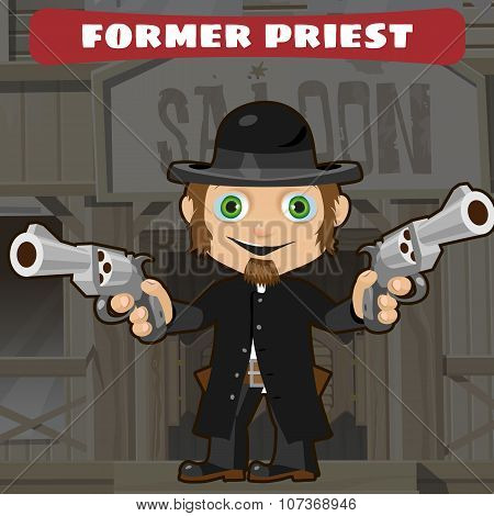 Fictional cartoon character -  former priest