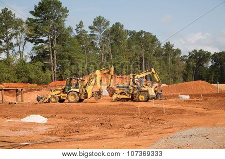Heavy Equipment At Residential Site
