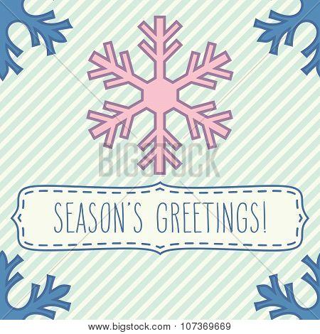 Snowflake Frame And Season's Greetings