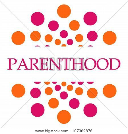 Parenthood Pink Orange Dots
