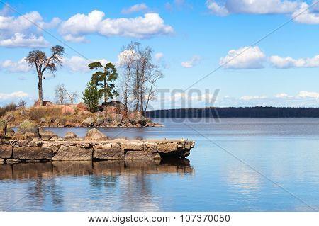 Mon Repos Coastal Landscape, Park In Vyborg