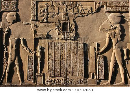 Relief on the wall of Kom Ombo Temple