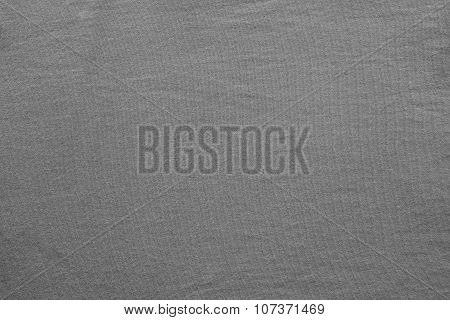 Texture Cotton Fabric Of Gray Color