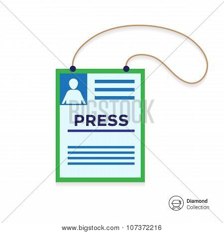 Press card icon