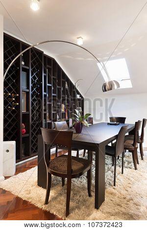 Loft Apartment Interior, Dining Area