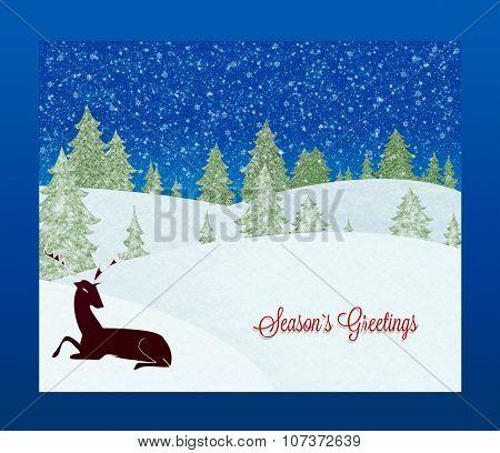 Season`s Greetings  card. Christmas background.