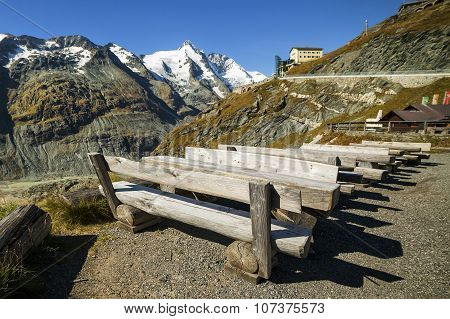 Picnic Area At The Grossglockner Near Top.