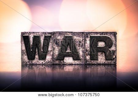 War Concept Vintage Letterpress Type