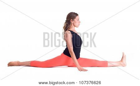 Practicing Yoga exercises
