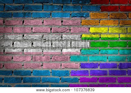 Dark Brick Wall - Trans Pride