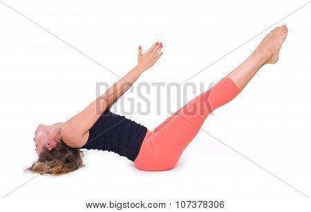 Practicing Yoga exercises